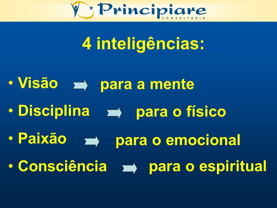 4 inteligências: Visão para a mente Disciplina Paixão para o físico
