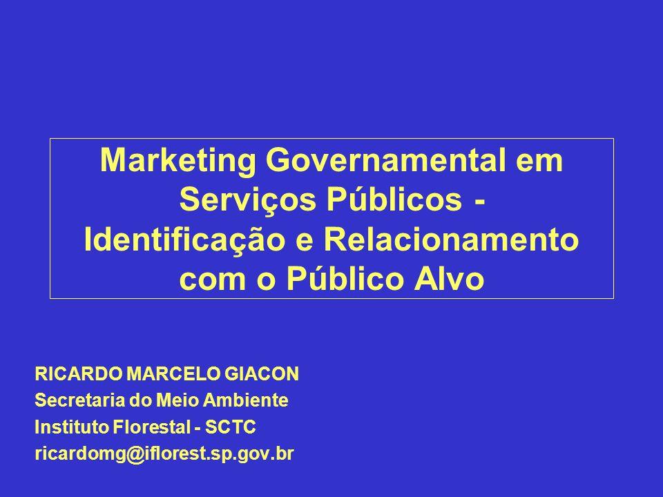 Marketing Governamental em Serviços Públicos - Identificação e Relacionamento com o Público Alvo