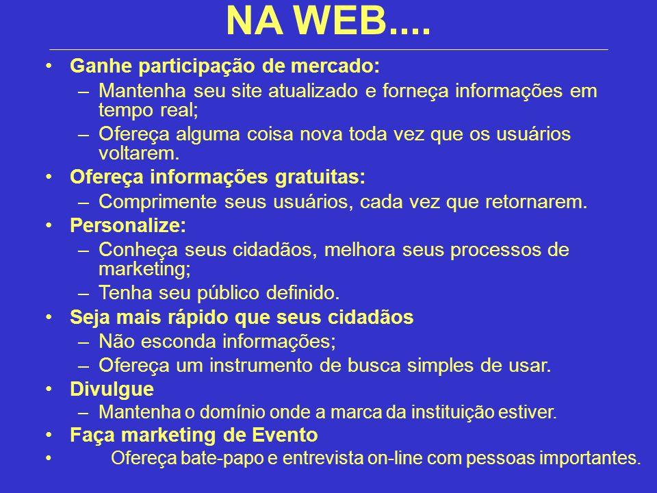 NA WEB.... Ganhe participação de mercado: