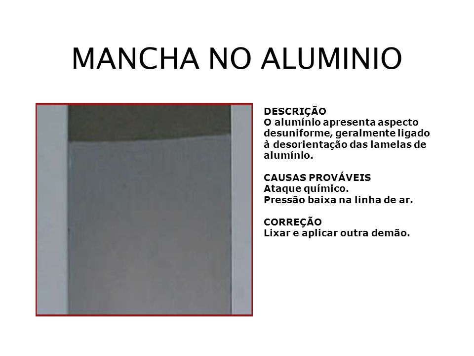 MANCHA NO ALUMINIO