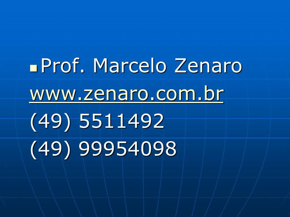 Prof. Marcelo Zenaro www.zenaro.com.br (49) 5511492 (49) 99954098