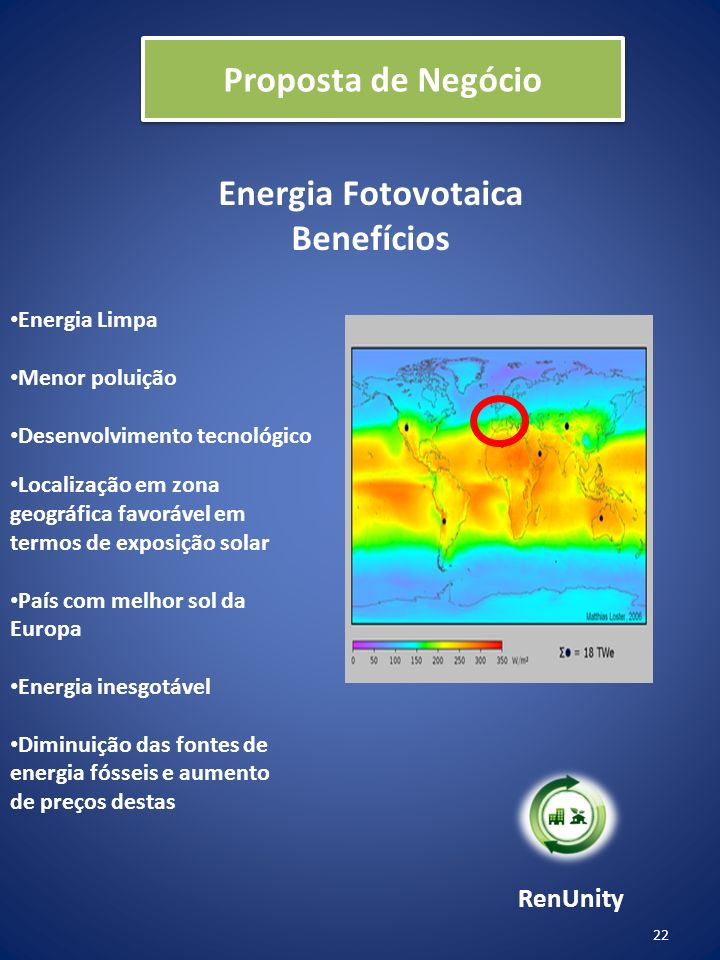 Proposta de Negócio Energia Fotovotaica Benefícios