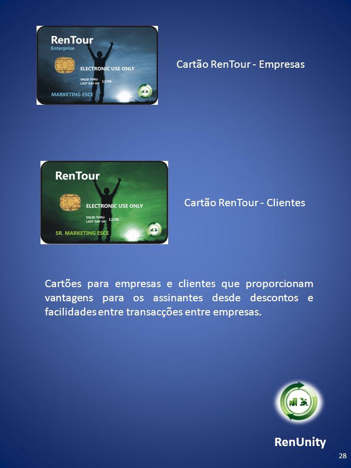 RenUnity Cartão RenTour - Empresas Cartão RenTour - Clientes
