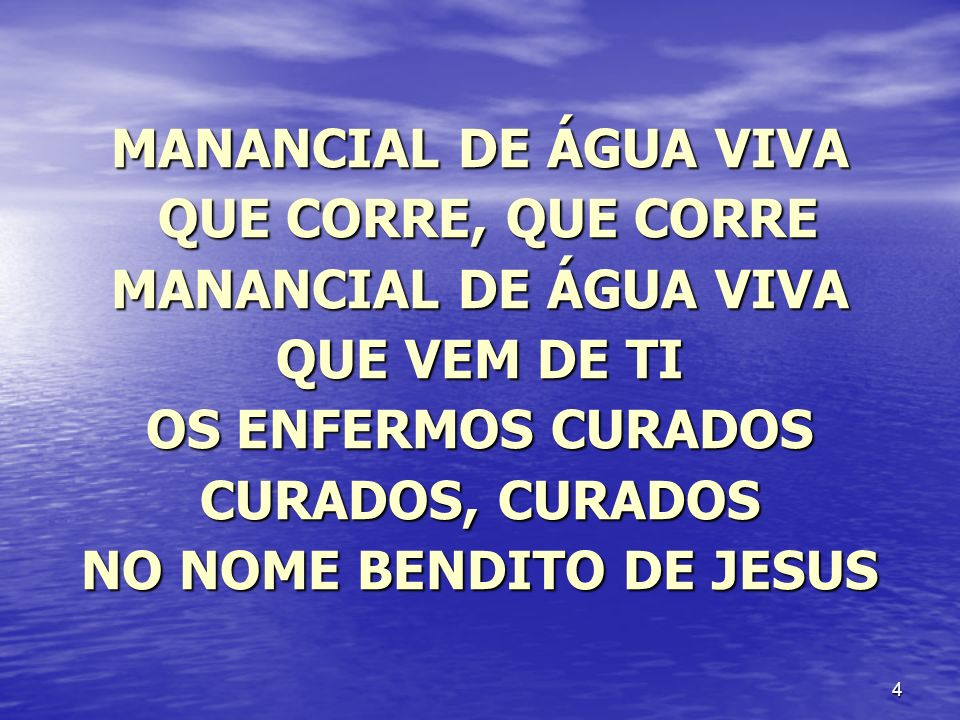 OS ENFERMOS CURADOS CURADOS, CURADOS NO NOME BENDITO DE JESUS