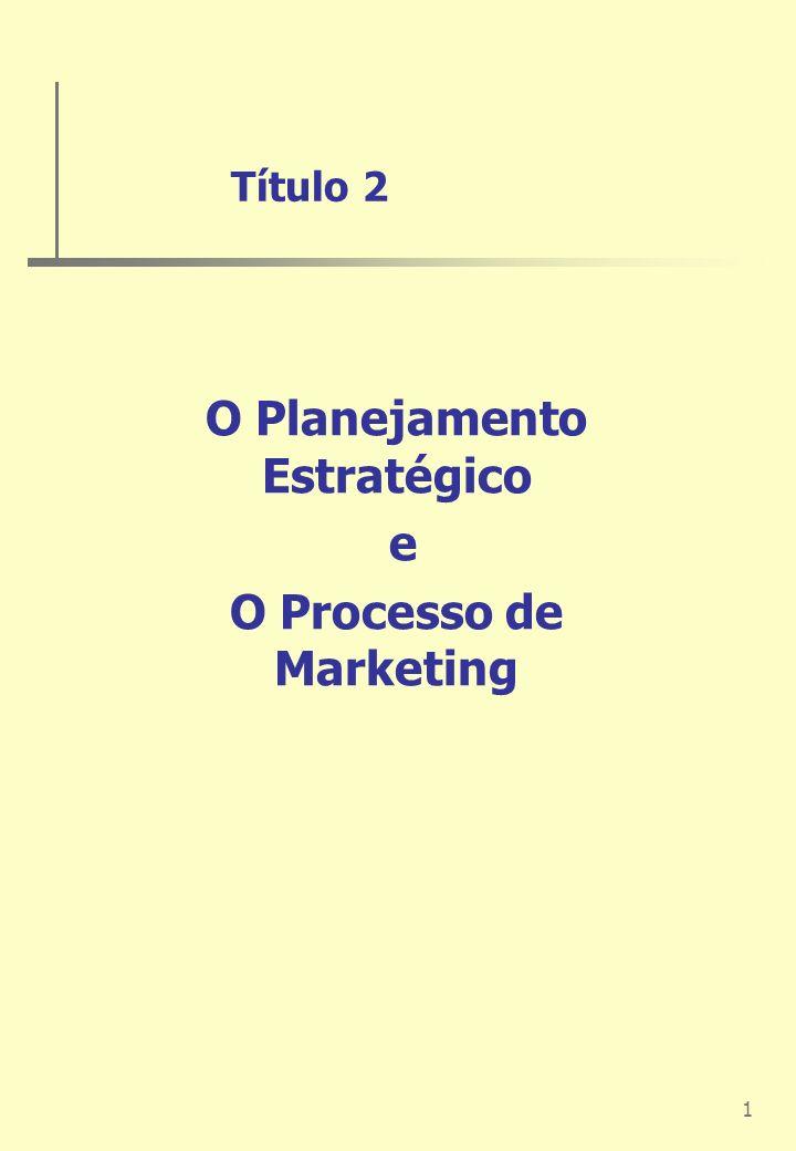 O Planejamento Estratégico e O Processo de Marketing