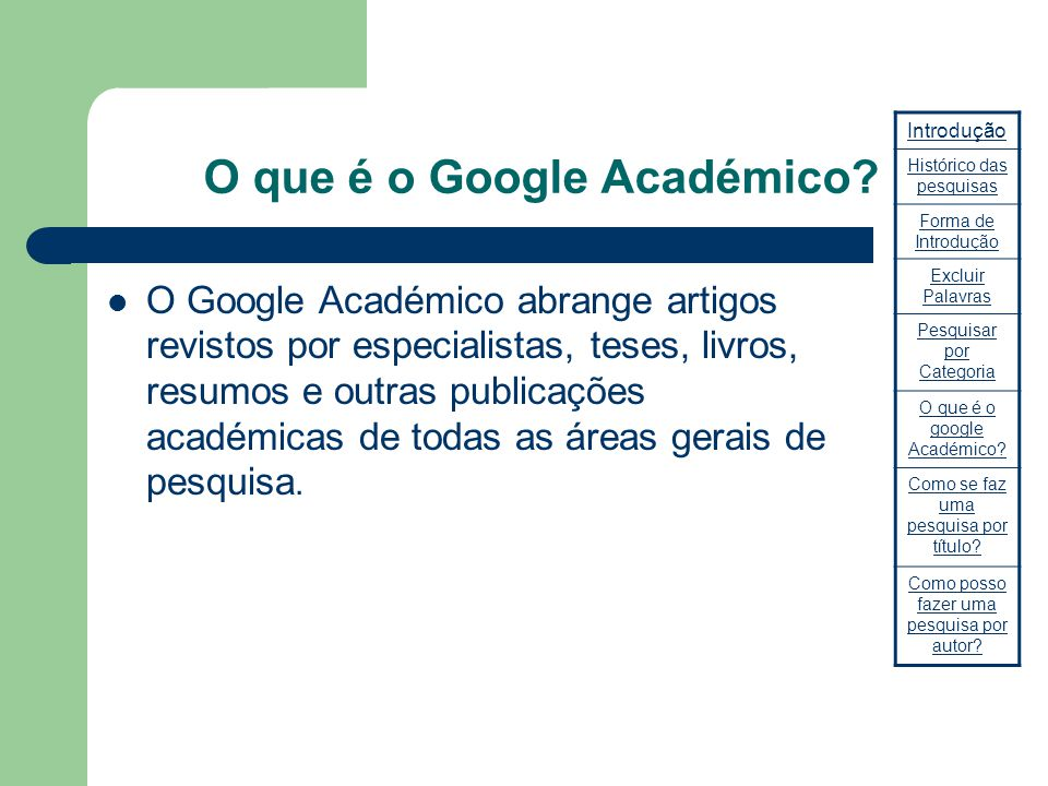 O que é o Google Académico