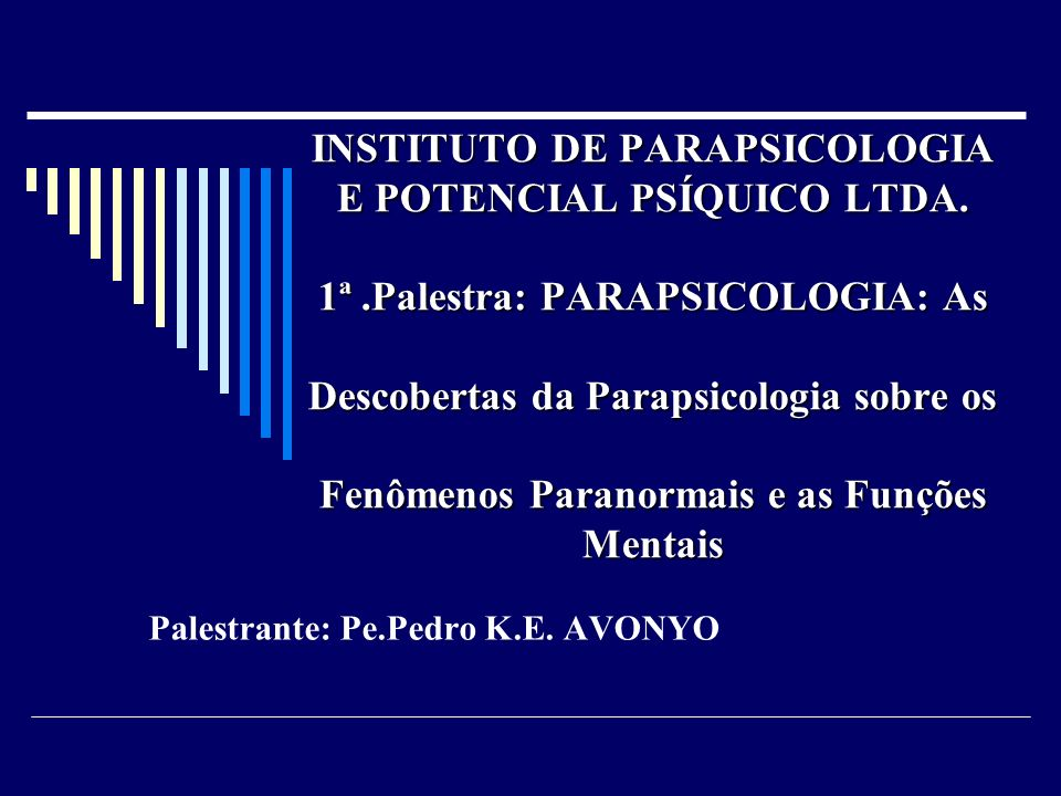 Palestrante: Pe.Pedro K.E. AVONYO