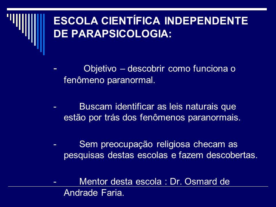 ESCOLA CIENTÍFICA INDEPENDENTE DE PARAPSICOLOGIA: