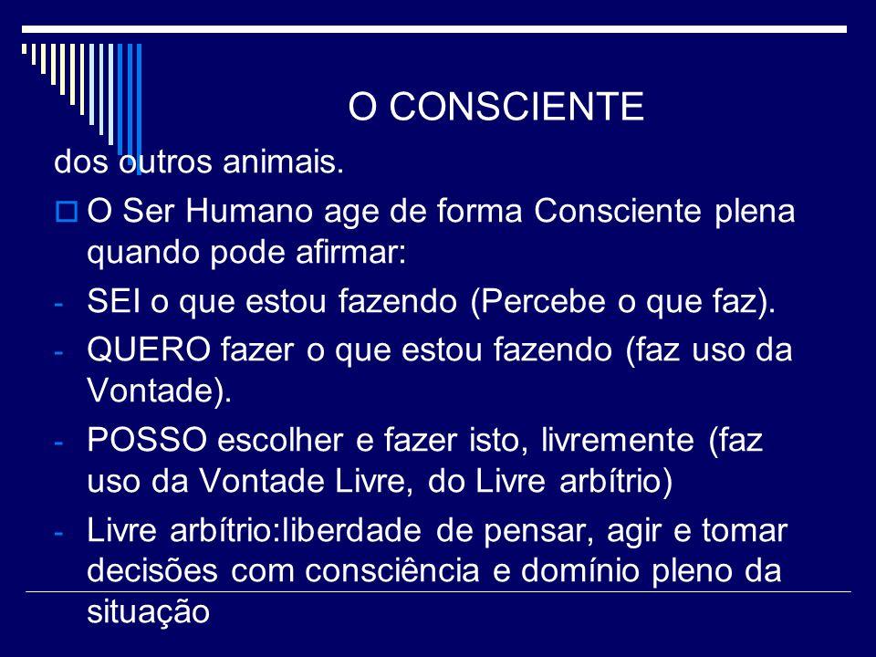 O CONSCIENTE dos outros animais.