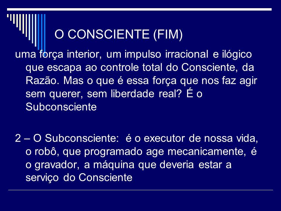 O CONSCIENTE (FIM)