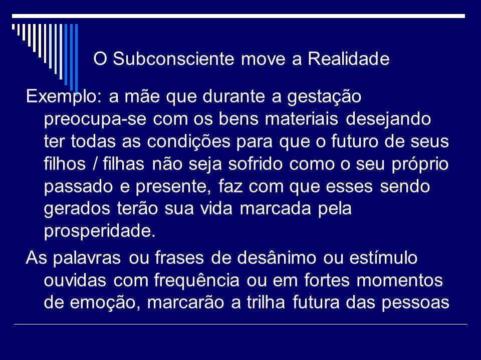 O Subconsciente move a Realidade