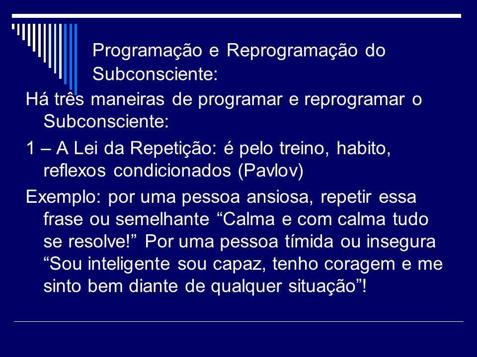 Programação e Reprogramação do Subconsciente: