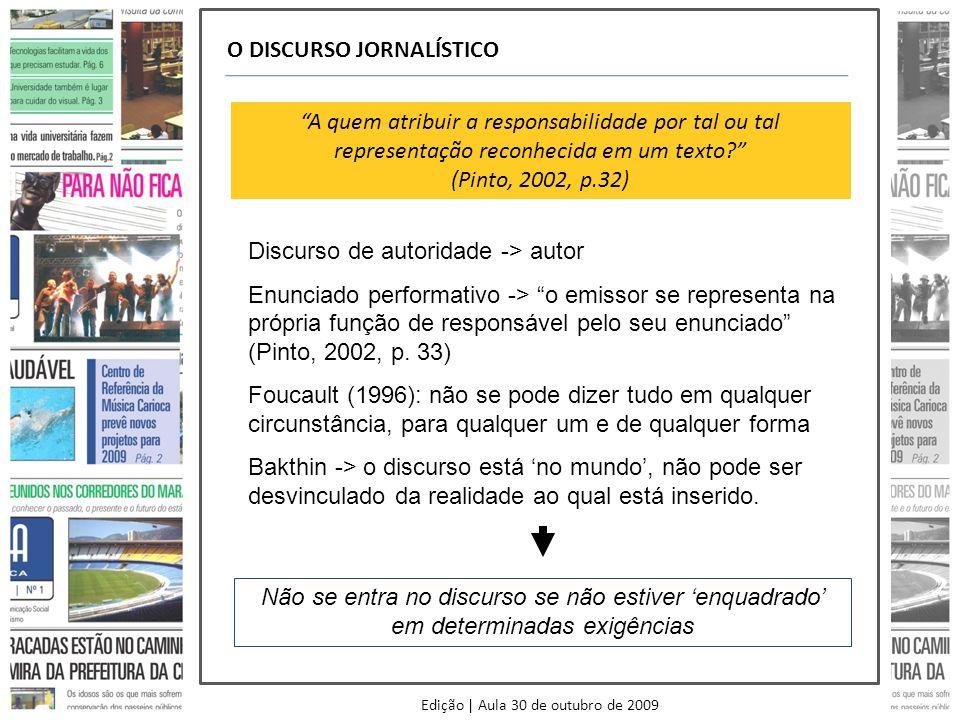 Edição | Aula 30 de outubro de 2009