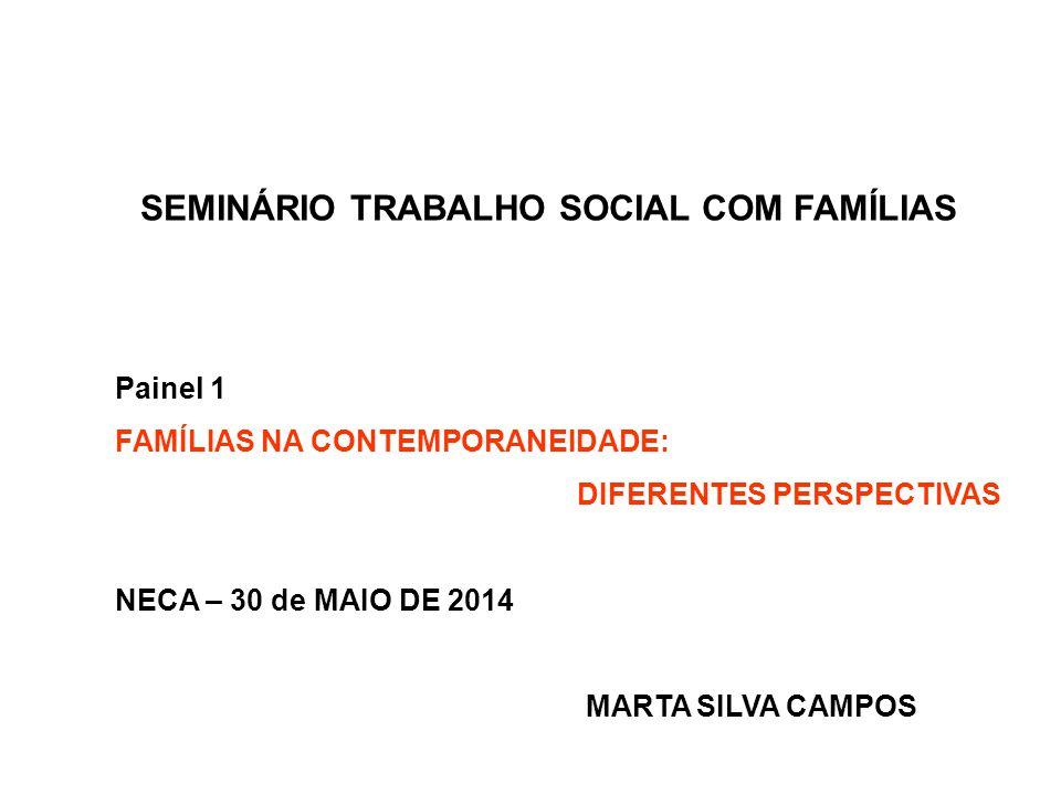 SEMINÁRIO TRABALHO SOCIAL COM FAMÍLIAS