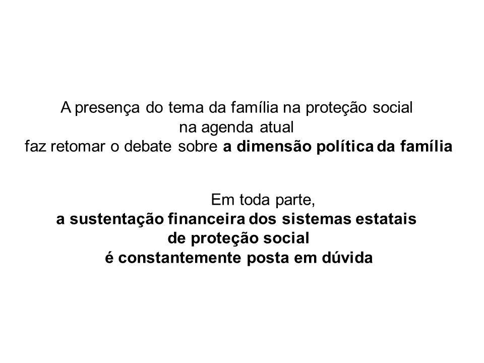 A presença do tema da família na proteção social na agenda atual