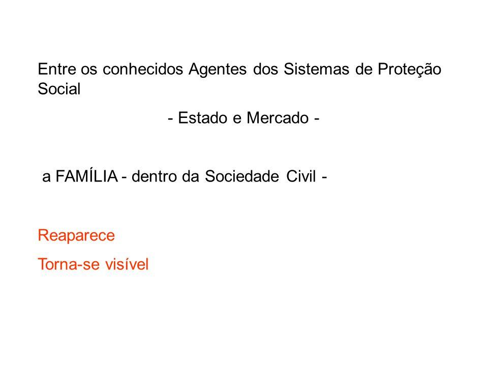 Entre os conhecidos Agentes dos Sistemas de Proteção Social