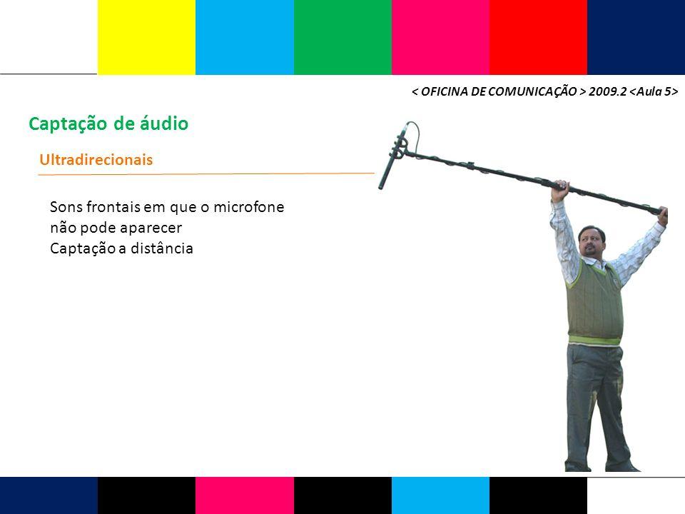 Captação de áudio Ultradirecionais