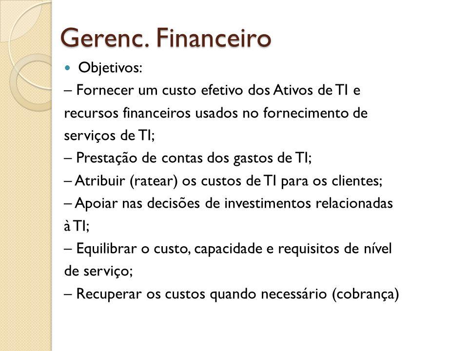 Gerenc. Financeiro Objetivos: