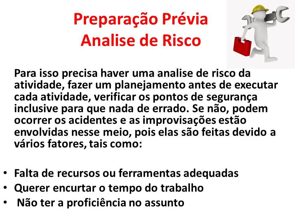 Preparação Prévia Analise de Risco