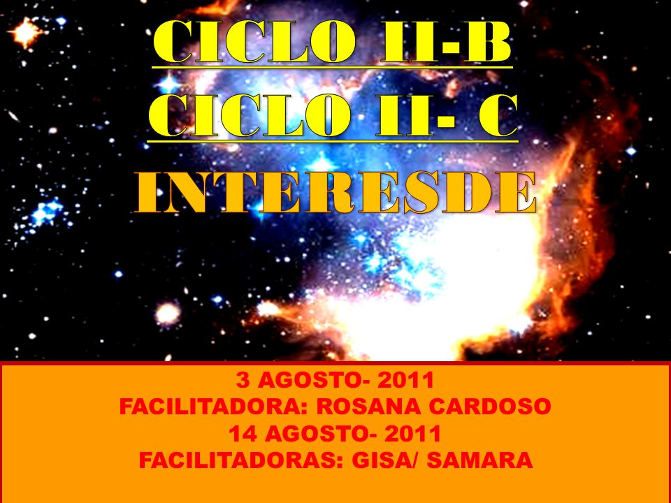 CICLO II-B CICLO II- C INTERESDE