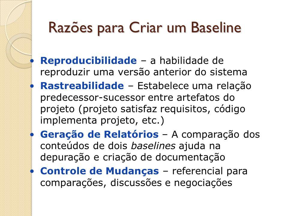 Razões para Criar um Baseline