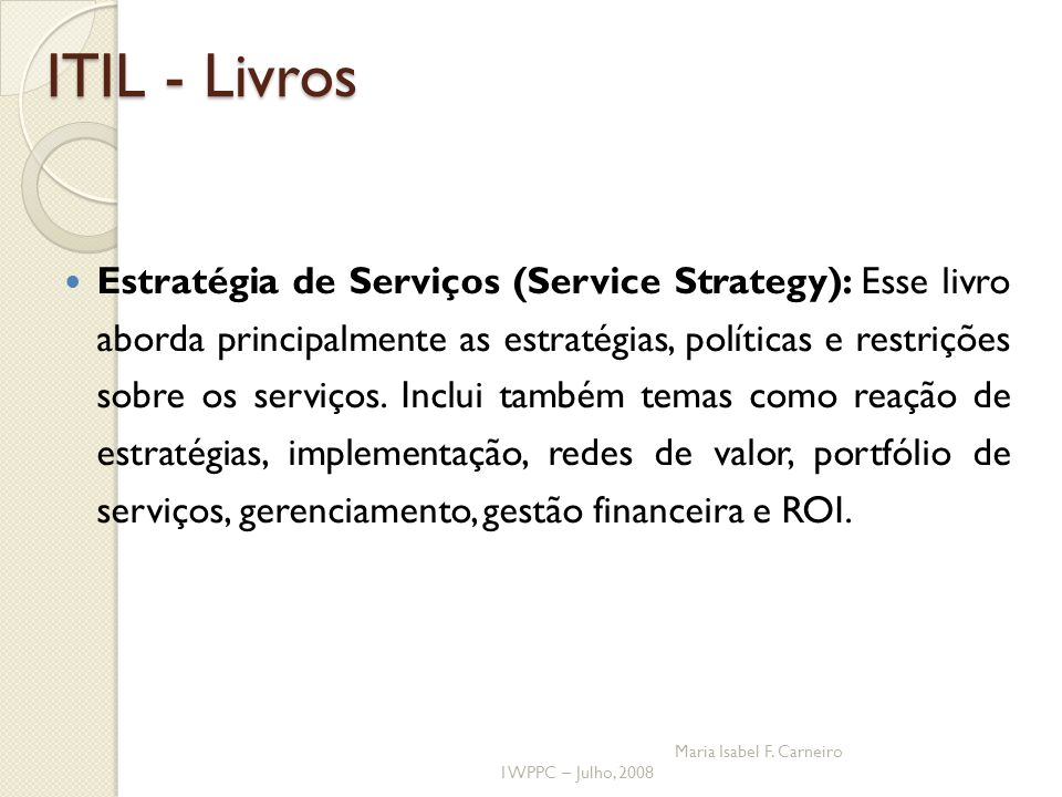 ITIL - Livros