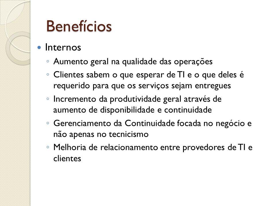 Benefícios Internos Aumento geral na qualidade das operações