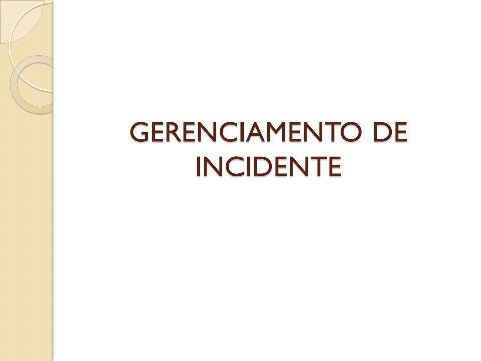 GERENCIAMENTO DE INCIDENTE