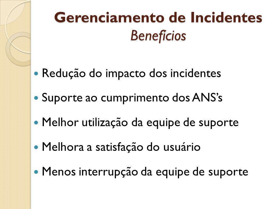 Gerenciamento de Incidentes Benefícios