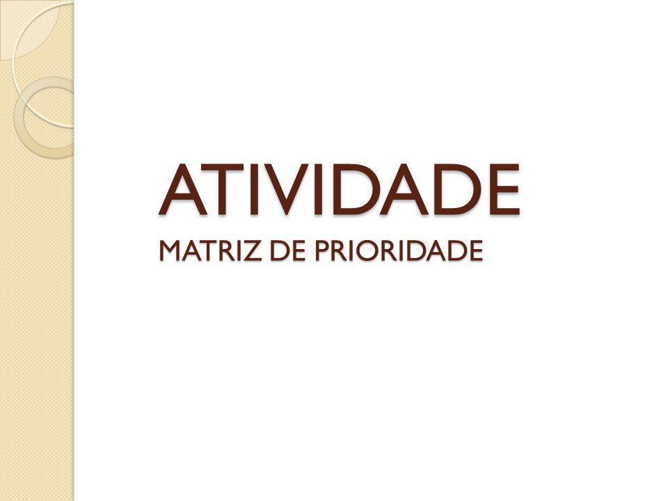 ATIVIDADE MATRIZ DE PRIORIDADE