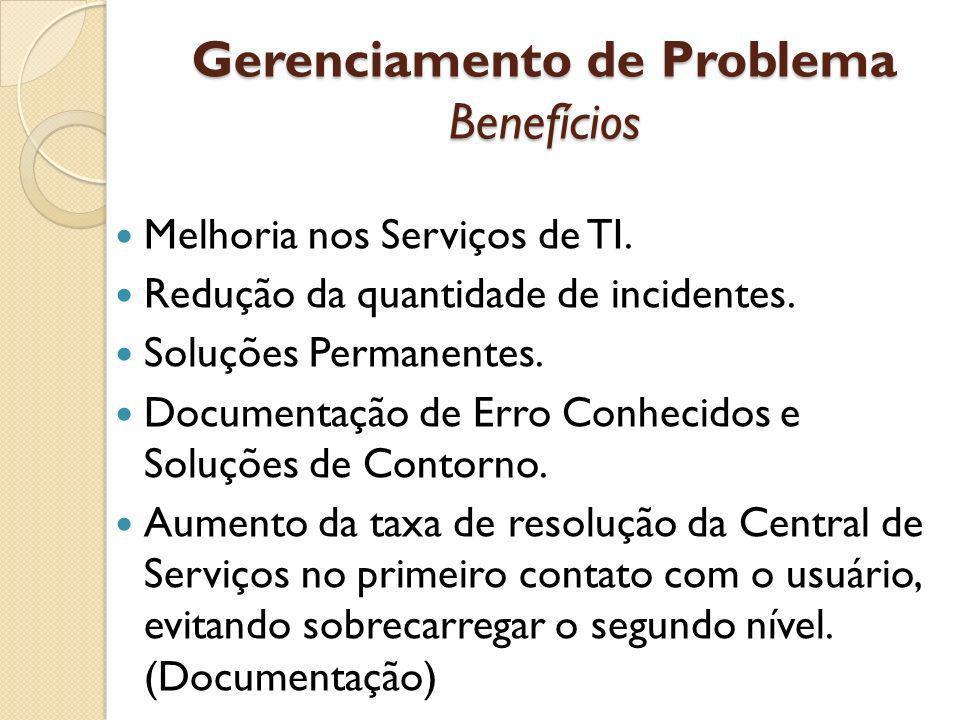 Gerenciamento de Problema Benefícios