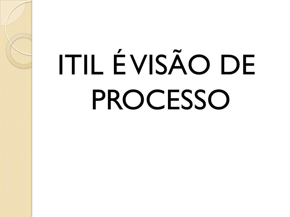 ITIL É VISÃO DE PROCESSO