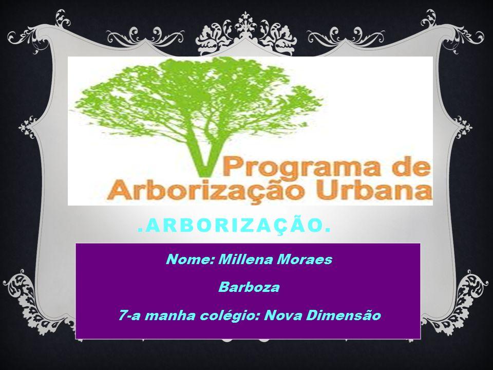 Nome: Millena Moraes Barboza 7-a manha colégio: Nova Dimensão