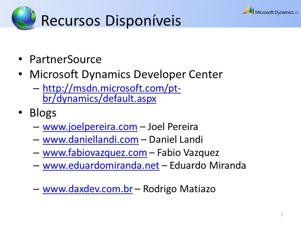 Recursos Disponíveis PartnerSource Microsoft Dynamics Developer Center