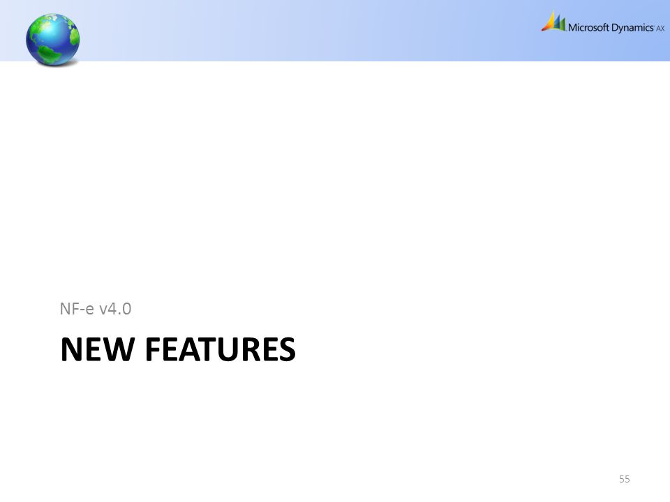 NF-e v4.0 New Features