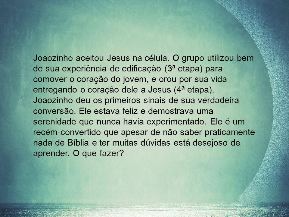 Joaozinho aceitou Jesus na célula