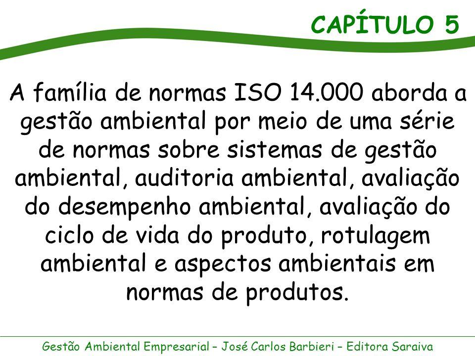 A família de normas ISO 14.000 aborda a gestão ambiental por meio de uma série de normas sobre sistemas de gestão ambiental, auditoria ambiental, avaliação do desempenho ambiental, avaliação do ciclo de vida do produto, rotulagem ambiental e aspectos ambientais em normas de produtos.