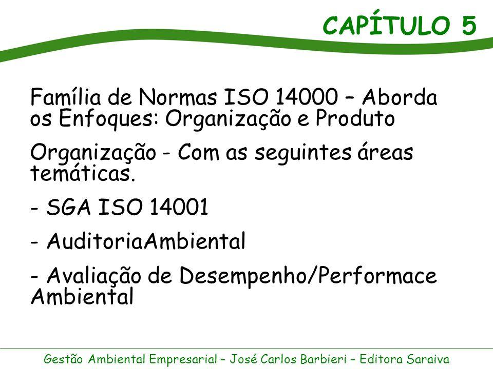 Família de Normas ISO 14000 – Aborda os Enfoques: Organização e Produto