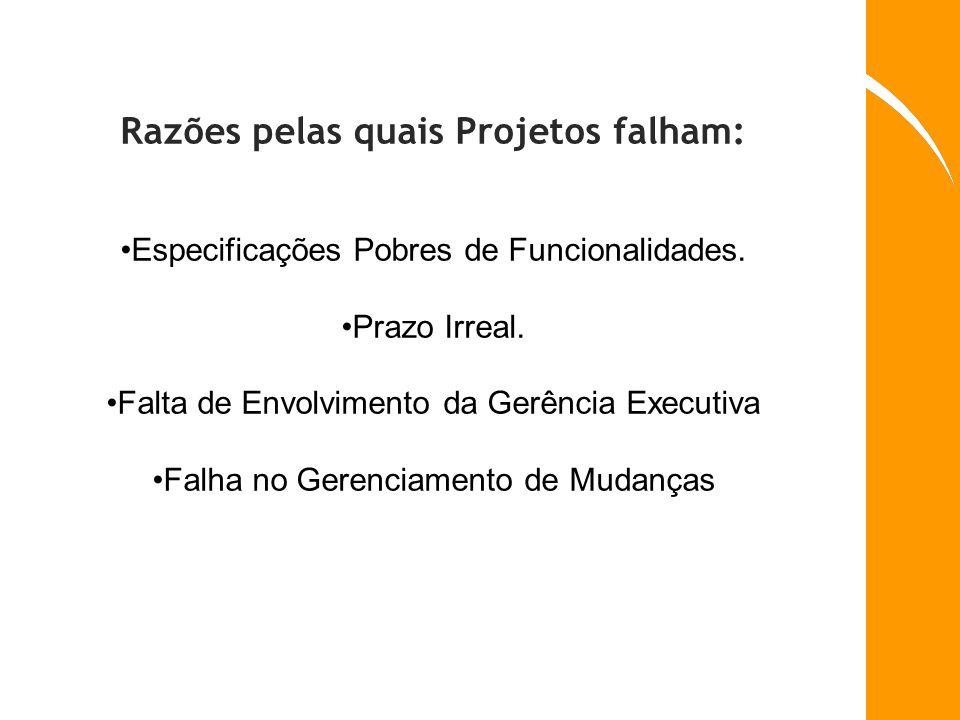Razões pelas quais Projetos falham: