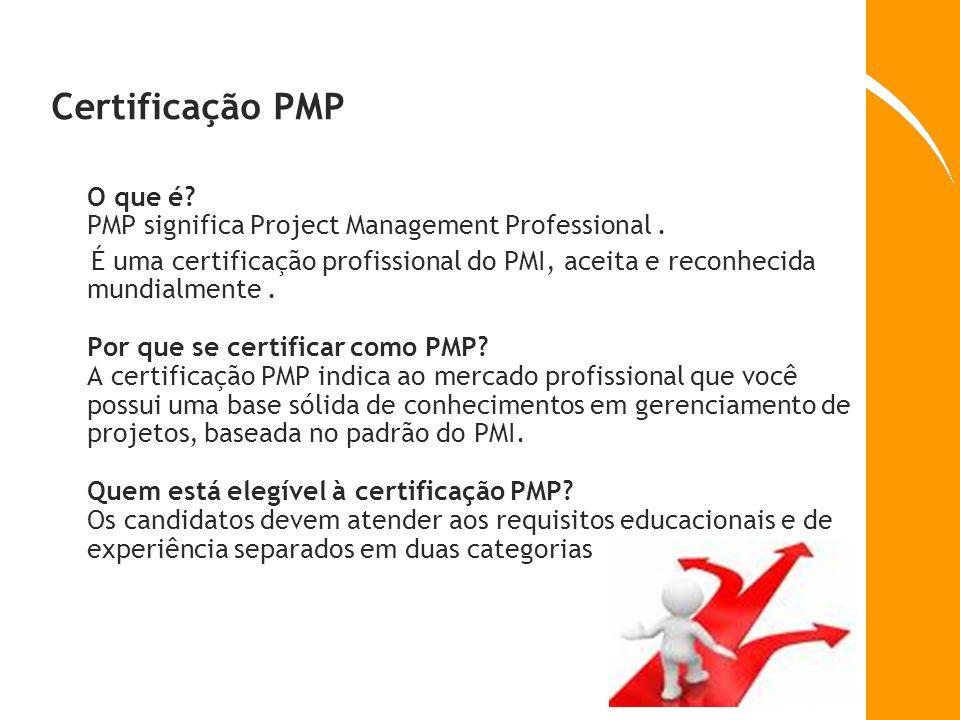 Certificação PMP O que é PMP significa Project Management Professional .