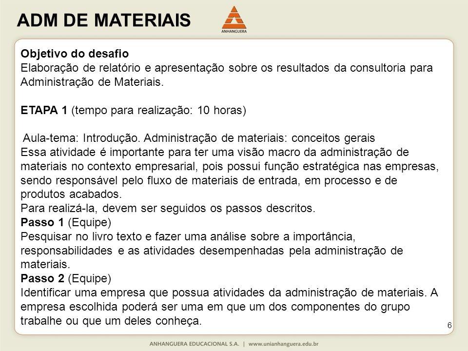 Objetivo do desafio Elaboração de relatório e apresentação sobre os resultados da consultoria para.