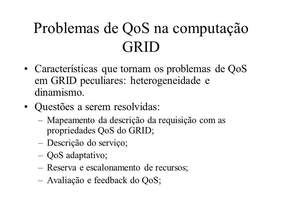 Problemas de QoS na computação GRID