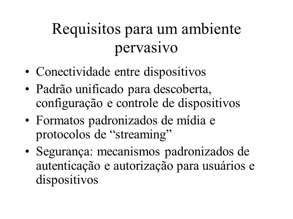 Requisitos para um ambiente pervasivo