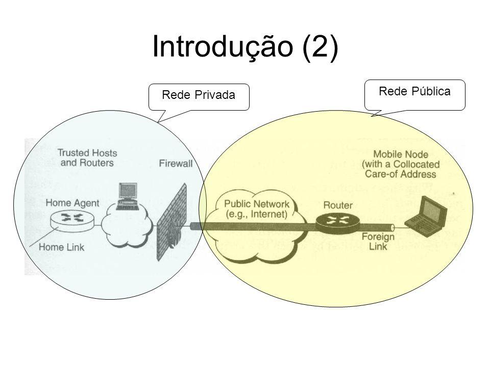 Introdução (2) Rede Pública Rede Privada