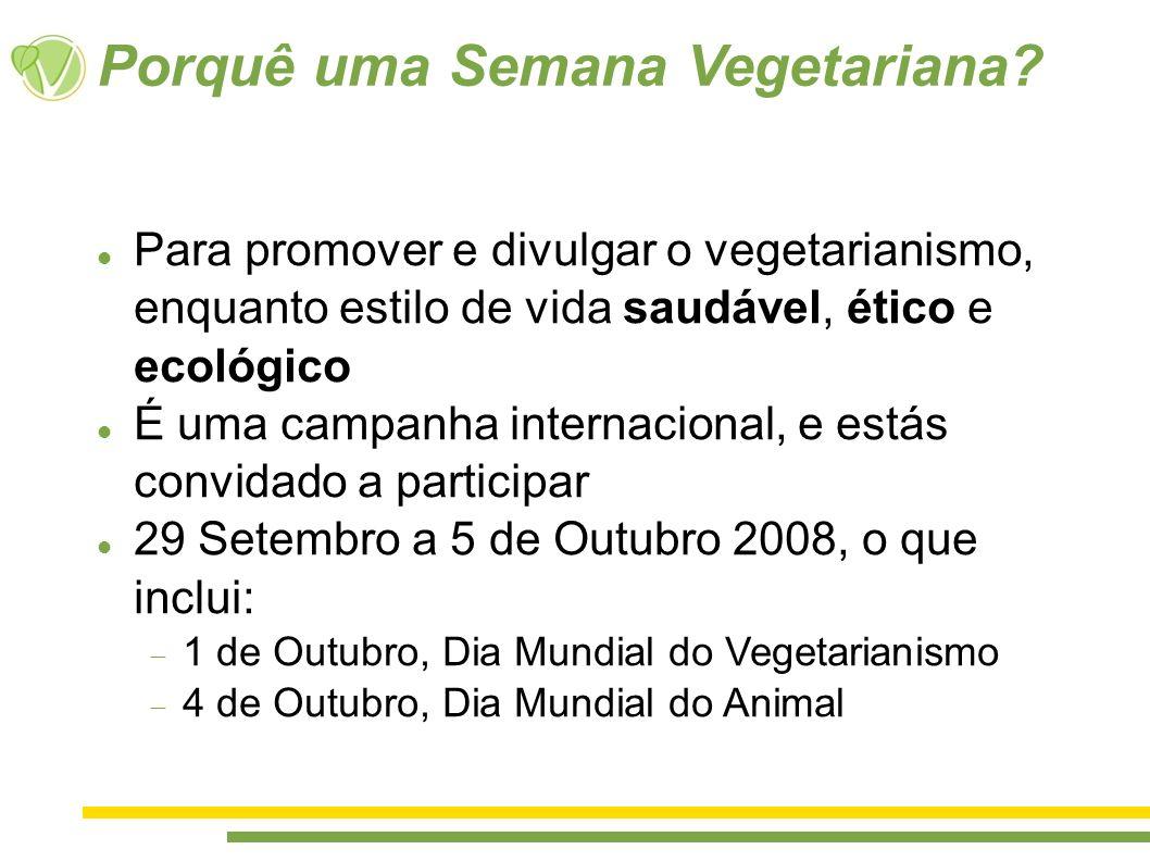 Porquê uma Semana Vegetariana
