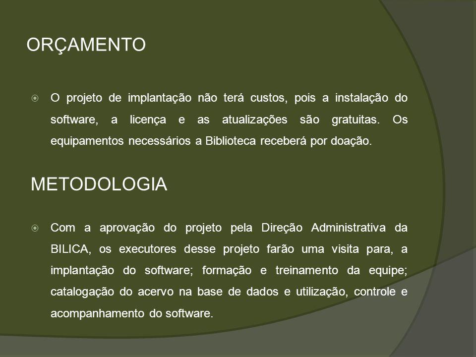 ORÇAMENTO METODOLOGIA