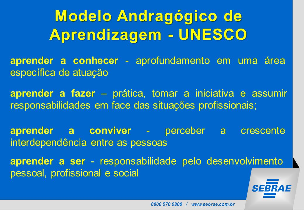 Modelo Andragógico de Aprendizagem - UNESCO
