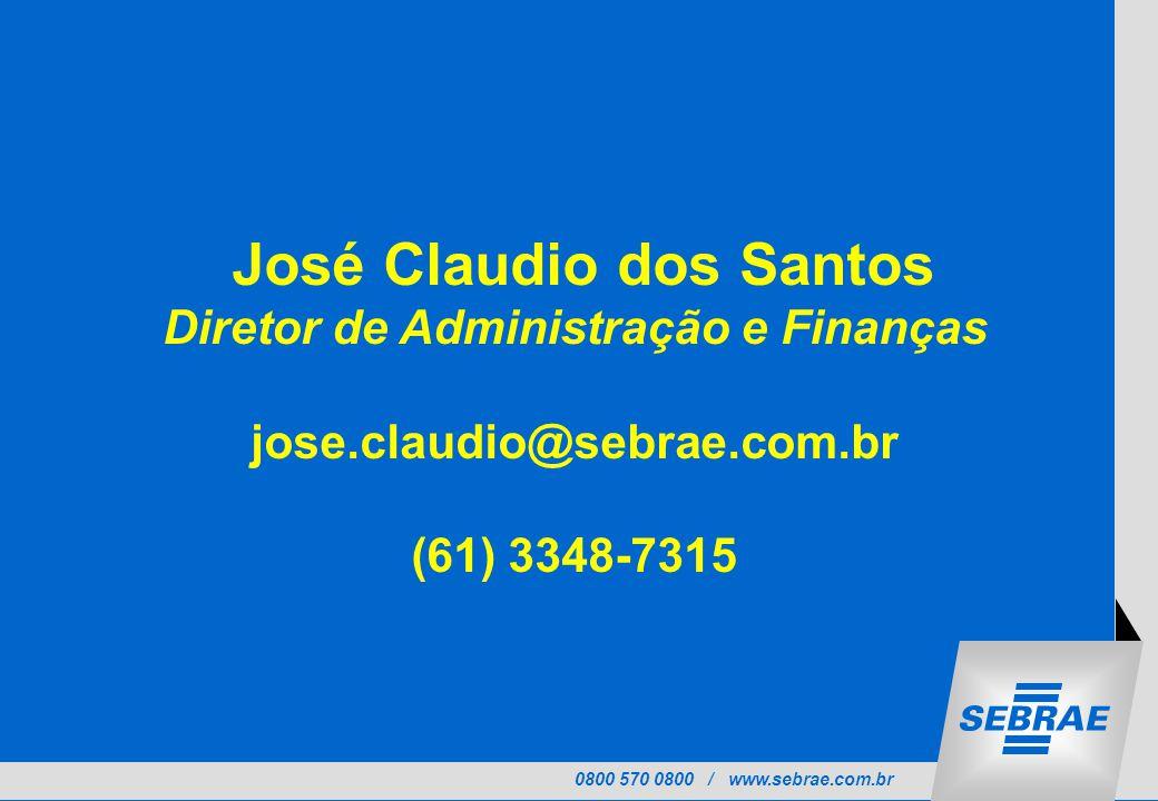 José Claudio dos Santos Diretor de Administração e Finanças
