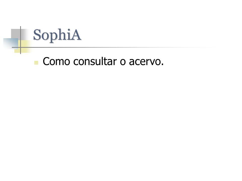 SophiA Como consultar o acervo.