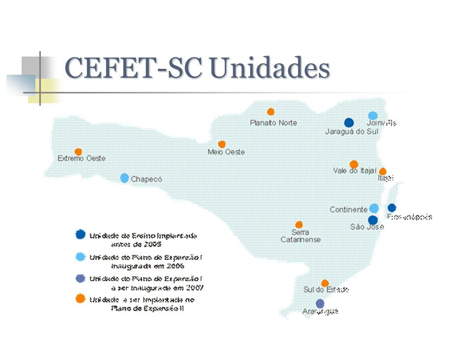 CEFET-SC Unidades